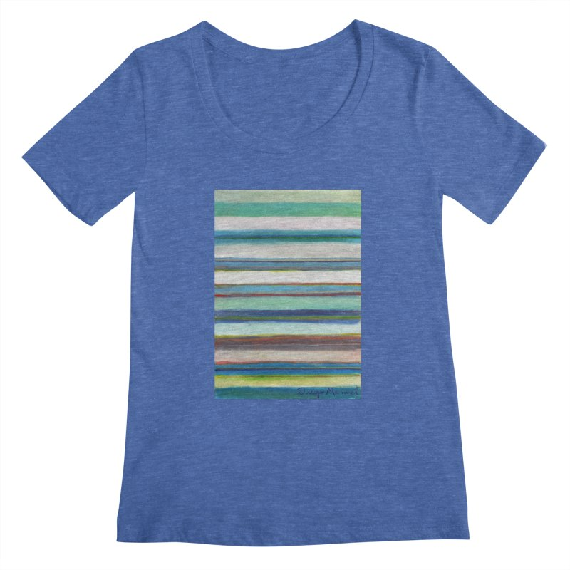 Strips Women's Regular Scoop Neck by diegomanuel's Artist Shop