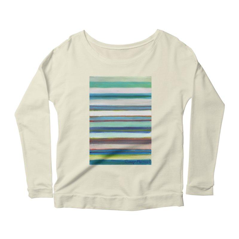 Strips Women's Scoop Neck Longsleeve T-Shirt by diegomanuel's Artist Shop