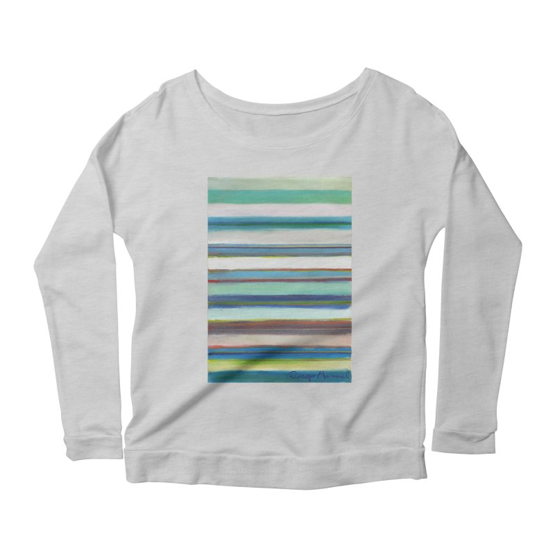 Strips Women's Scoop Neck Longsleeve T-Shirt by diegomanuel's Artist Shop