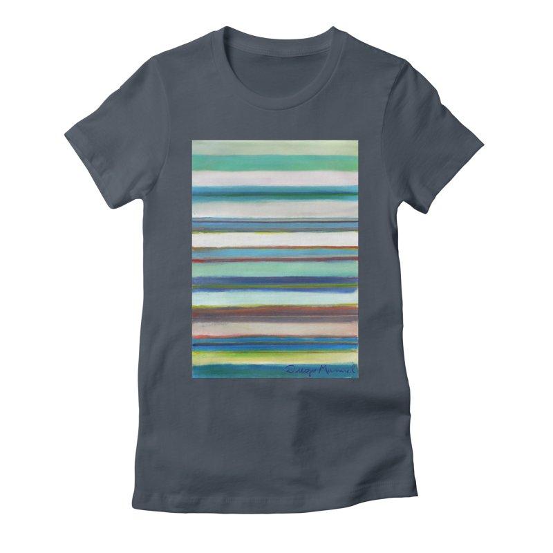 Franjas Women's Fitted T-Shirt by diegomanuel's Artist Shop