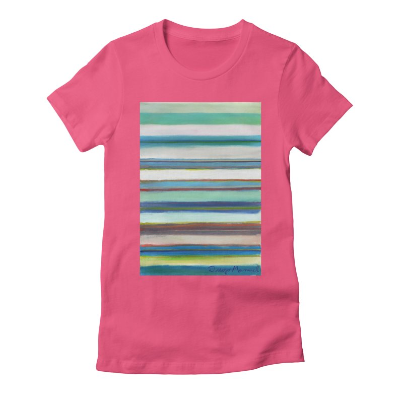 Strips Women's Fitted T-Shirt by diegomanuel's Artist Shop