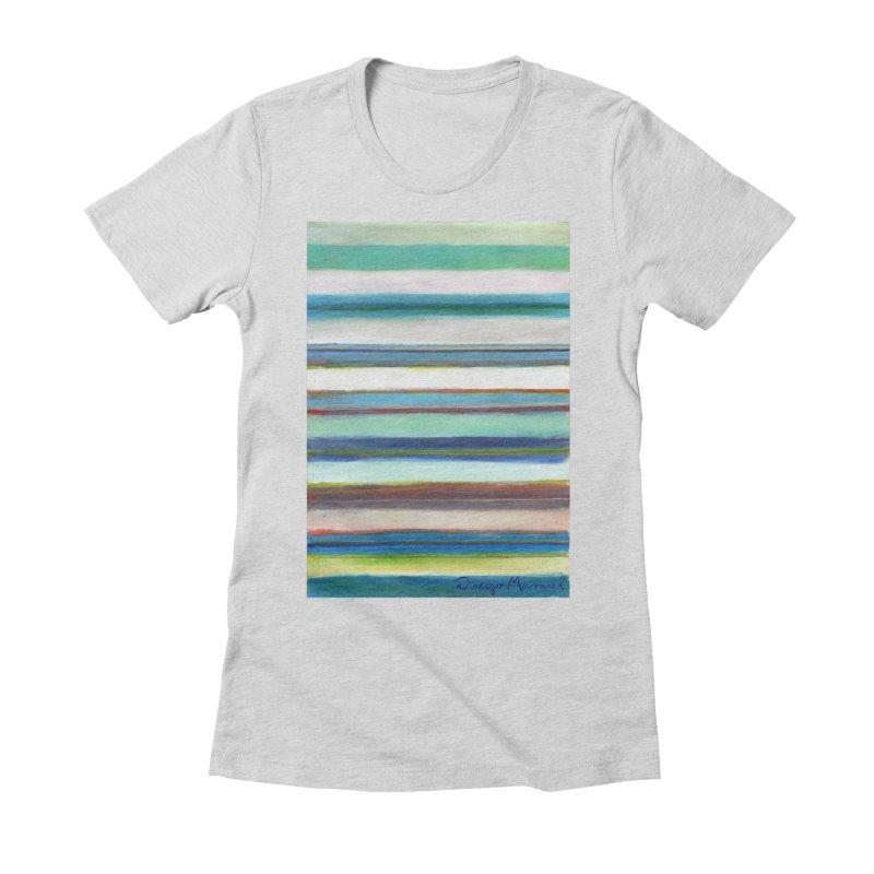 Strips Women's Fitted T-Shirt by diegomanuel's Artist Shop