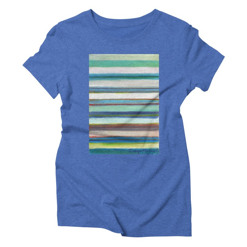 Strips Women's Triblend T-Shirt by diegomanuel's Artist Shop