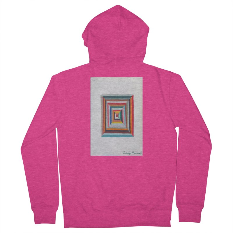Magic Square Women's French Terry Zip-Up Hoody by diegomanuel's Artist Shop