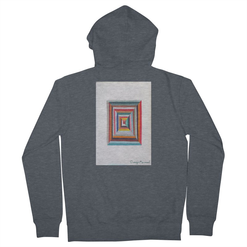 Magic Square Men's French Terry Zip-Up Hoody by diegomanuel's Artist Shop