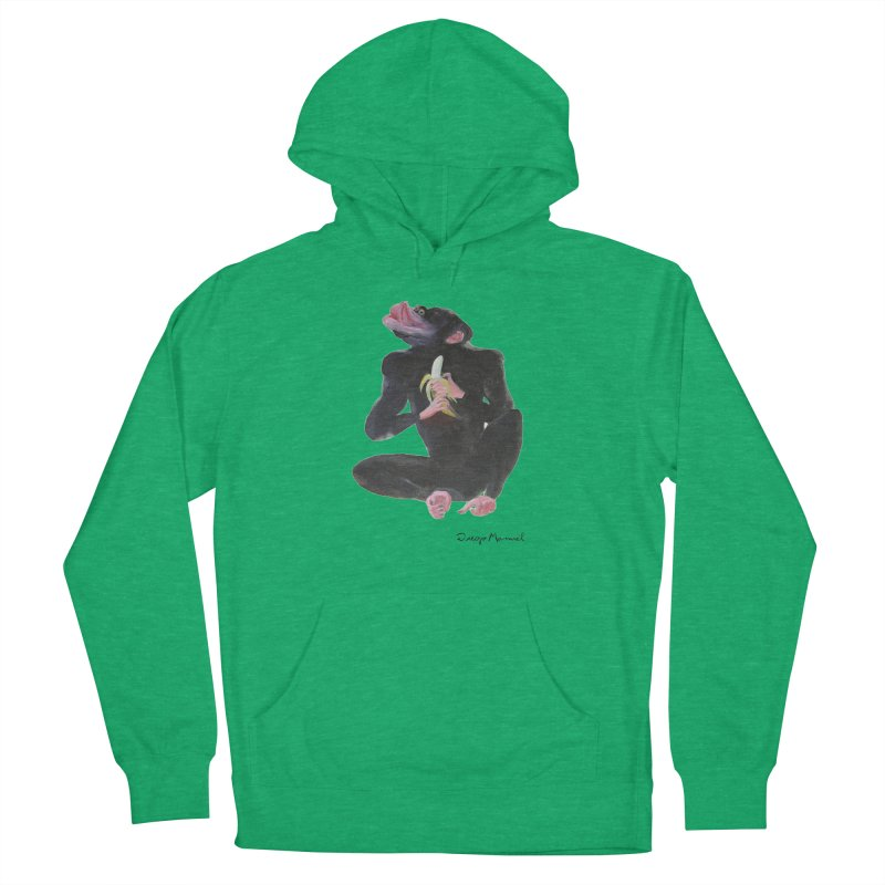 Bananas monkey Women's French Terry Pullover Hoody by diegomanuel's Artist Shop