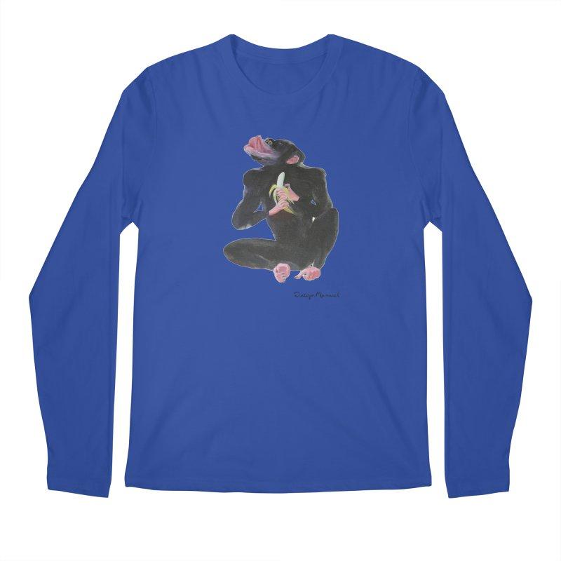 Bananas monkey Men's Regular Longsleeve T-Shirt by diegomanuel's Artist Shop