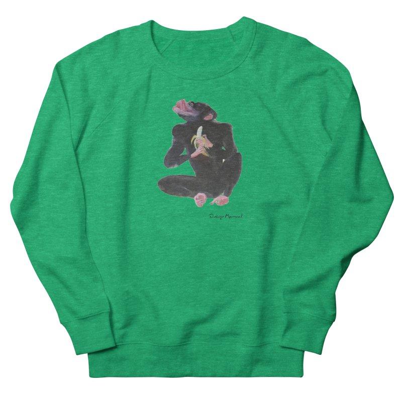 Bananas monkey Women's French Terry Sweatshirt by diegomanuel's Artist Shop
