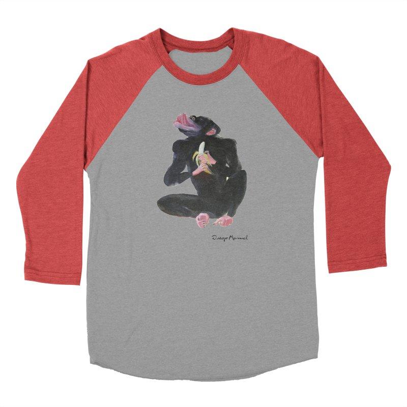 Bananas monkey Women's Baseball Triblend Longsleeve T-Shirt by diegomanuel's Artist Shop