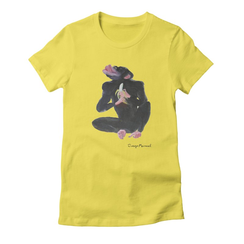 Bananas monkey Women's Fitted T-Shirt by diegomanuel's Artist Shop