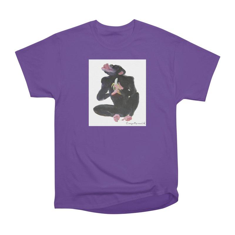 Bananas monkey Women's Classic Unisex T-Shirt by diegomanuel's Artist Shop