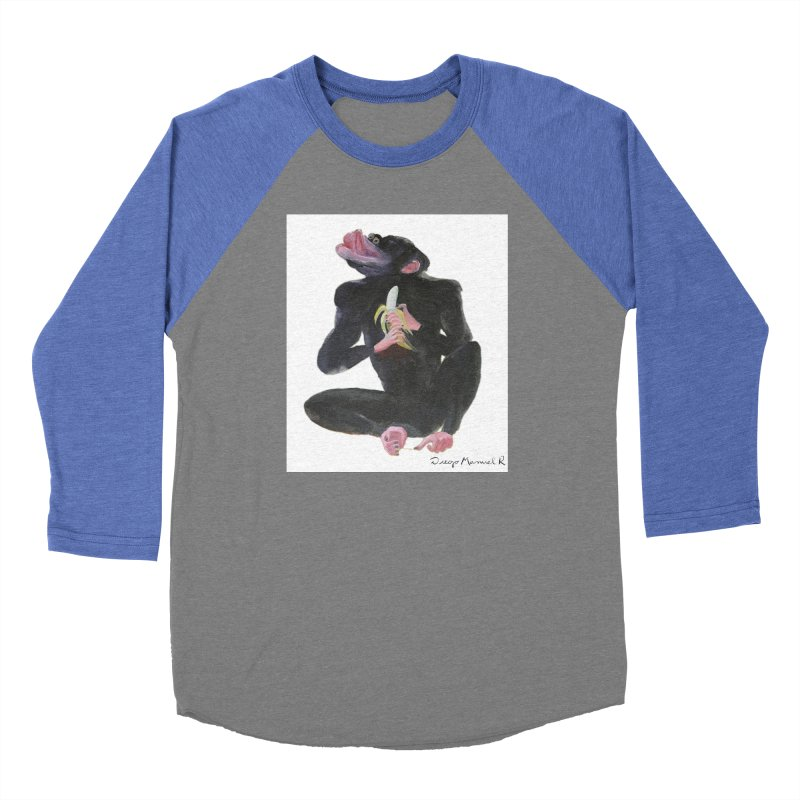Bananas monkey Women's Baseball Triblend T-Shirt by diegomanuel's Artist Shop