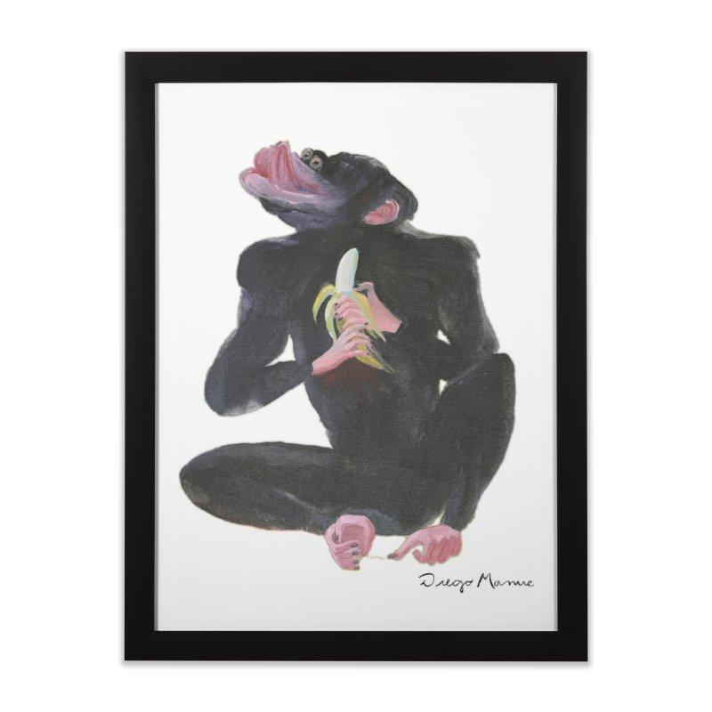 Bananas monkey Home Framed Fine Art Print by diegomanuel's Artist Shop