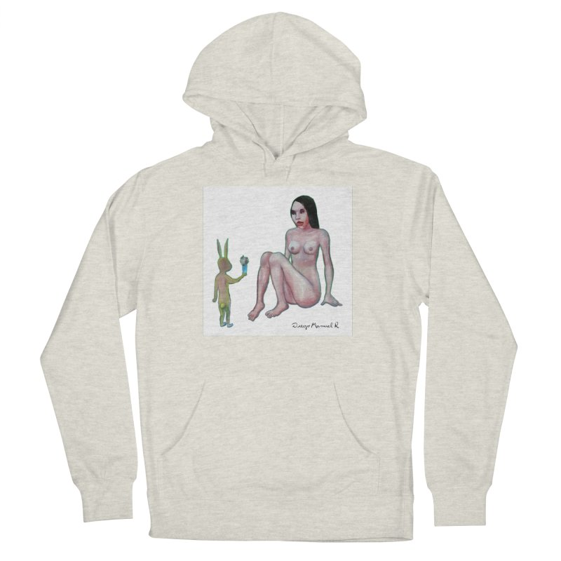 The rabbit in love Men's French Terry Pullover Hoody by diegomanuel's Artist Shop
