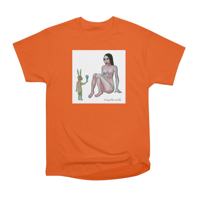 El conejo enamorado Women's Classic Unisex T-Shirt by diegomanuel's Artist Shop
