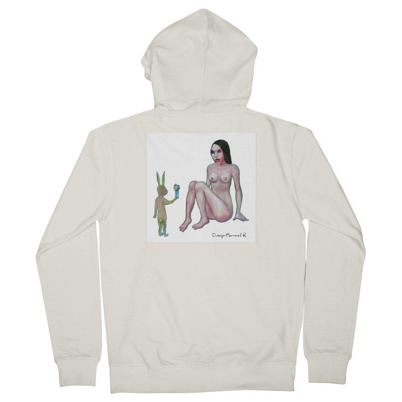 El conejo enamorado Women's Zip-Up Hoody by diegomanuel's Artist Shop