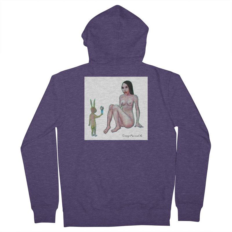 El conejo enamorado Men's French Terry Zip-Up Hoody by diegomanuel's Artist Shop