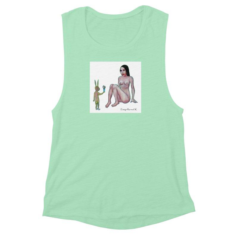 El conejo enamorado Women's Muscle Tank by diegomanuel's Artist Shop