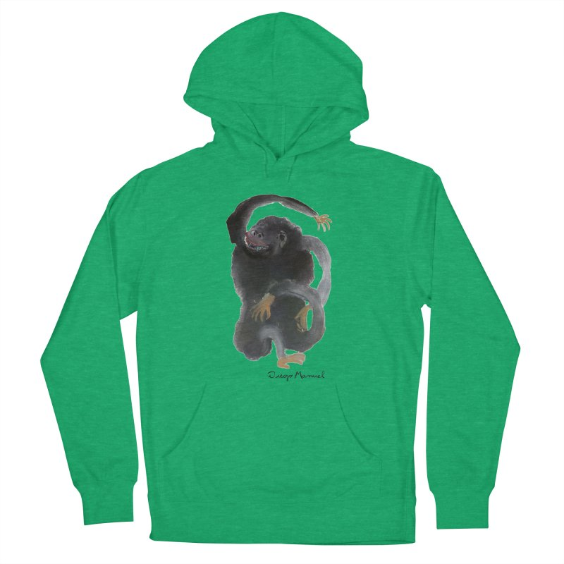 Gorilla 2 Men's French Terry Pullover Hoody by diegomanuel's Artist Shop