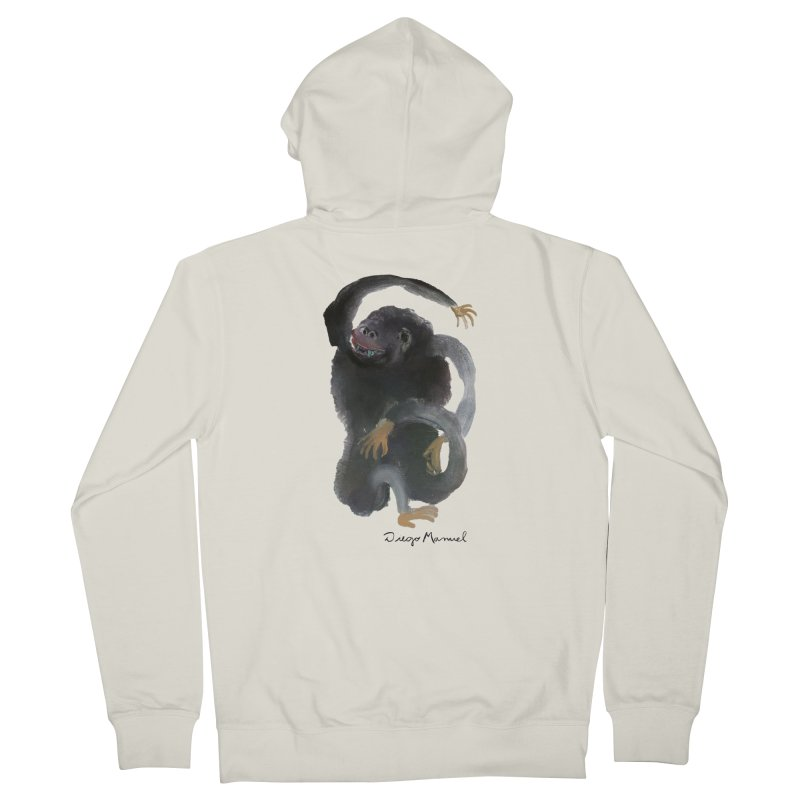 Gorilla 2 Women's French Terry Zip-Up Hoody by diegomanuel's Artist Shop