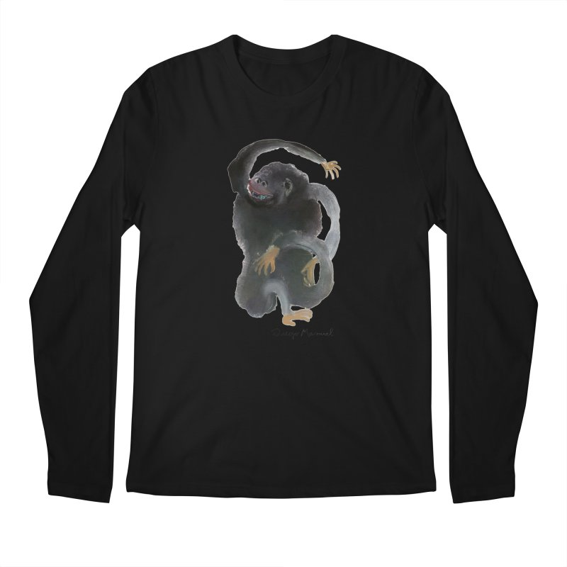 Gorilla 2 Men's Regular Longsleeve T-Shirt by diegomanuel's Artist Shop