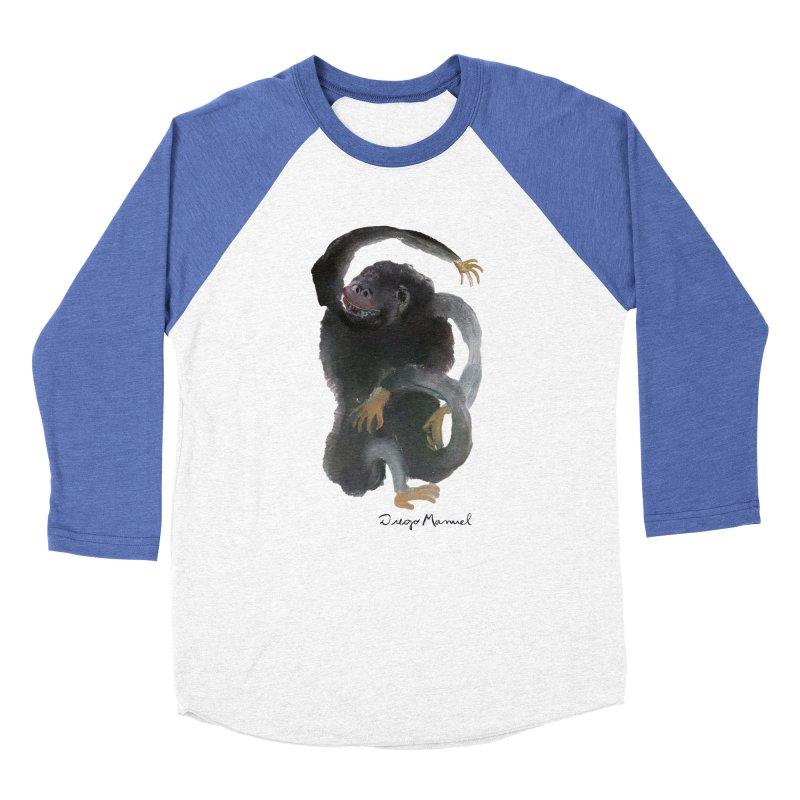 Gorilla 2 Women's Baseball Triblend Longsleeve T-Shirt by diegomanuel's Artist Shop