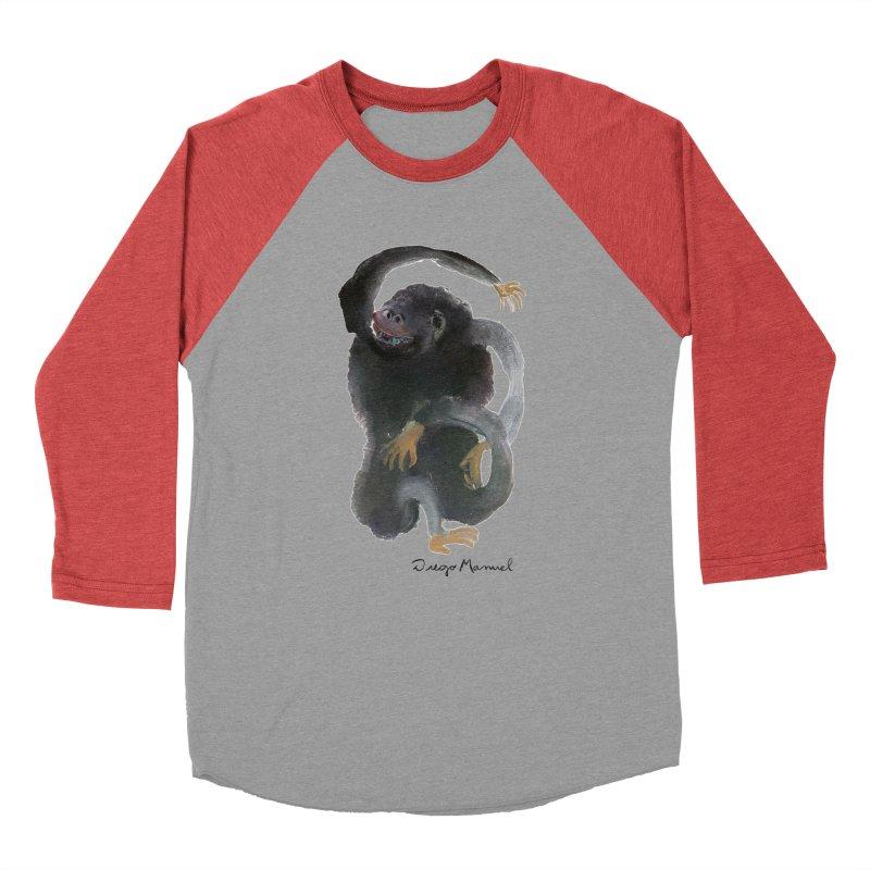 Gorilla 2 Men's Baseball Triblend Longsleeve T-Shirt by diegomanuel's Artist Shop
