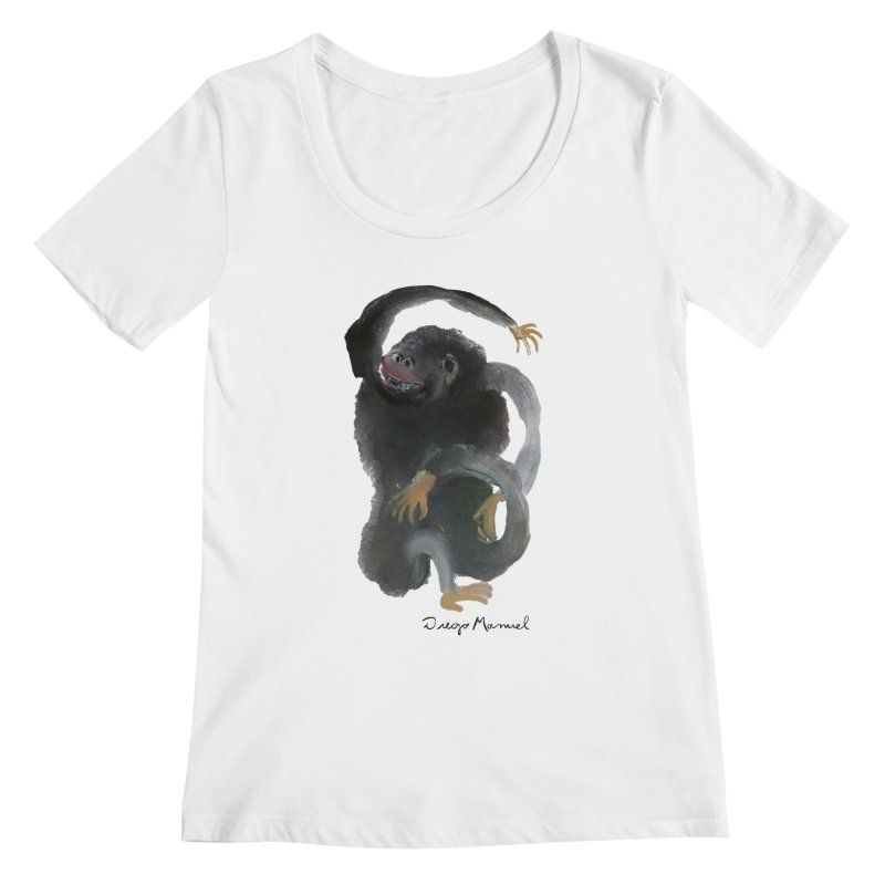 Gorilla 2 Women's Regular Scoop Neck by diegomanuel's Artist Shop