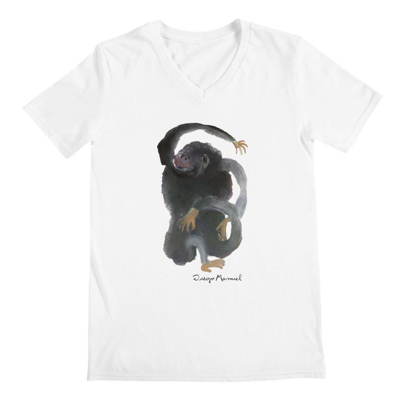Gorilla 2 Men's V-Neck by Diego Manuel Rodriguez Artist Shop