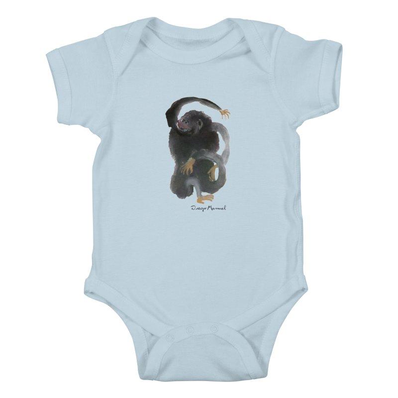 Gorilla 2 Kids Baby Bodysuit by Diego Manuel Rodriguez Artist Shop