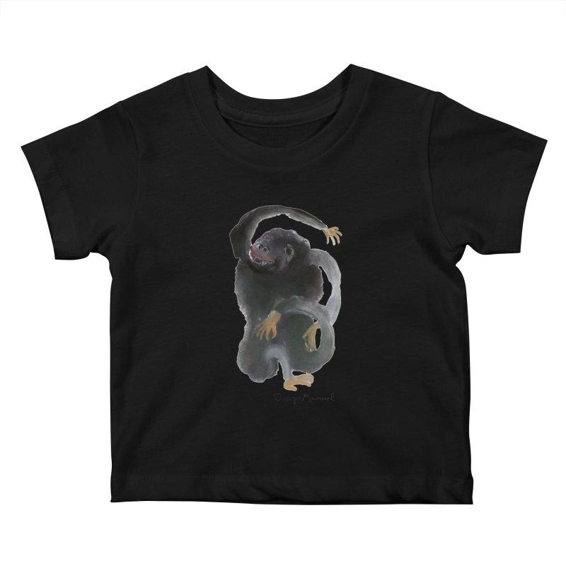 Gorilla 2 Kids Baby T-Shirt by diegomanuel's Artist Shop