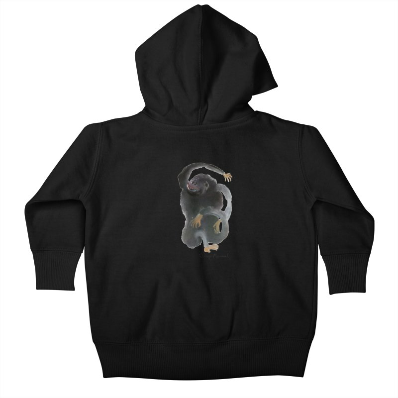 Gorilla 2 Kids Baby Zip-Up Hoody by diegomanuel's Artist Shop