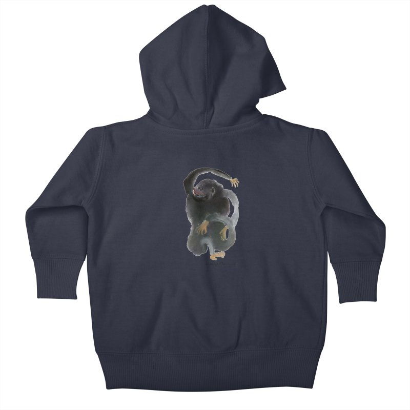 Gorilla 2 Kids Baby Zip-Up Hoody by Diego Manuel Rodriguez Artist Shop