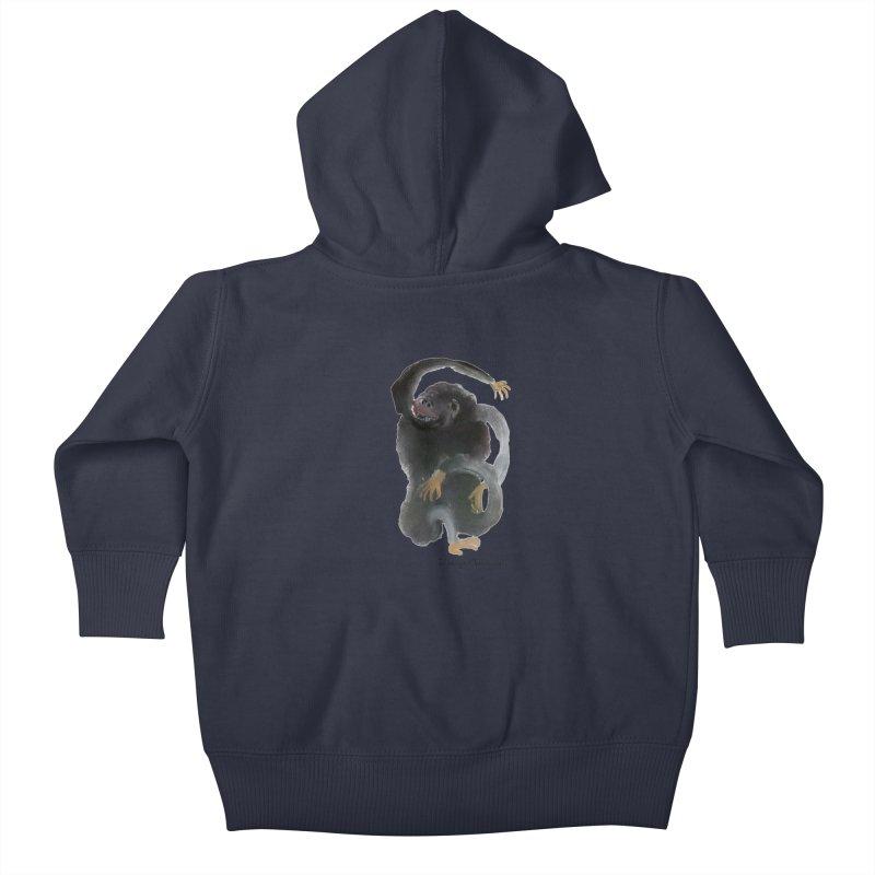 Gorilla 2 Kids Baby Zip-Up Hoody by diegomanuel's Artist Shop