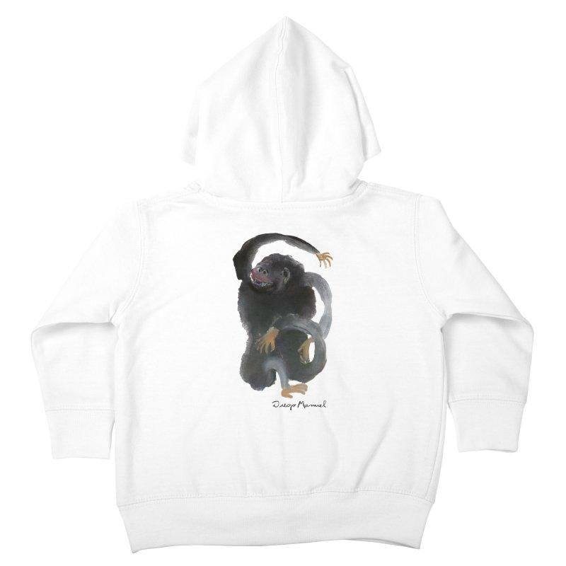 Gorilla 2 Kids Toddler Zip-Up Hoody by Diego Manuel Rodriguez Artist Shop