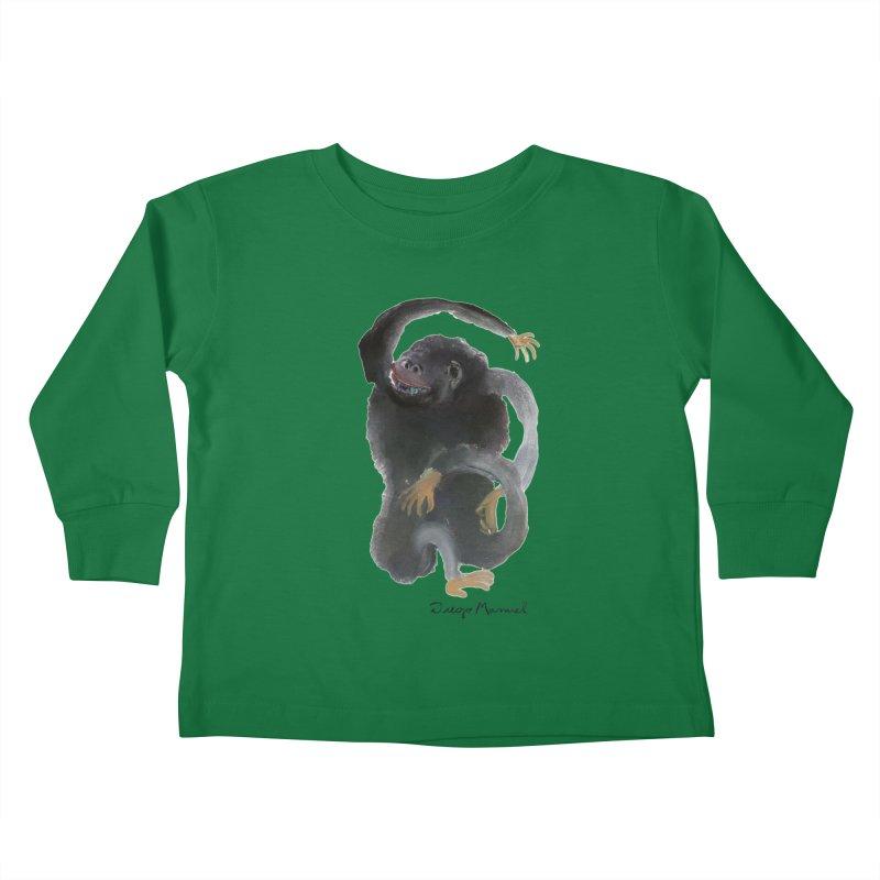 Gorilla 2 Kids Toddler Longsleeve T-Shirt by Diego Manuel Rodriguez Artist Shop