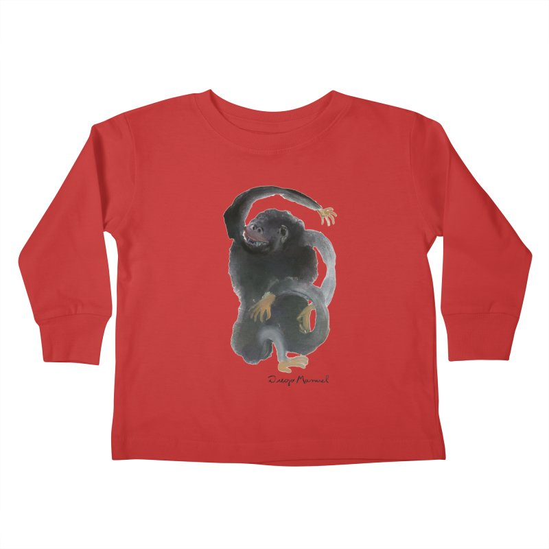 Gorilla 2 Kids Toddler Longsleeve T-Shirt by diegomanuel's Artist Shop