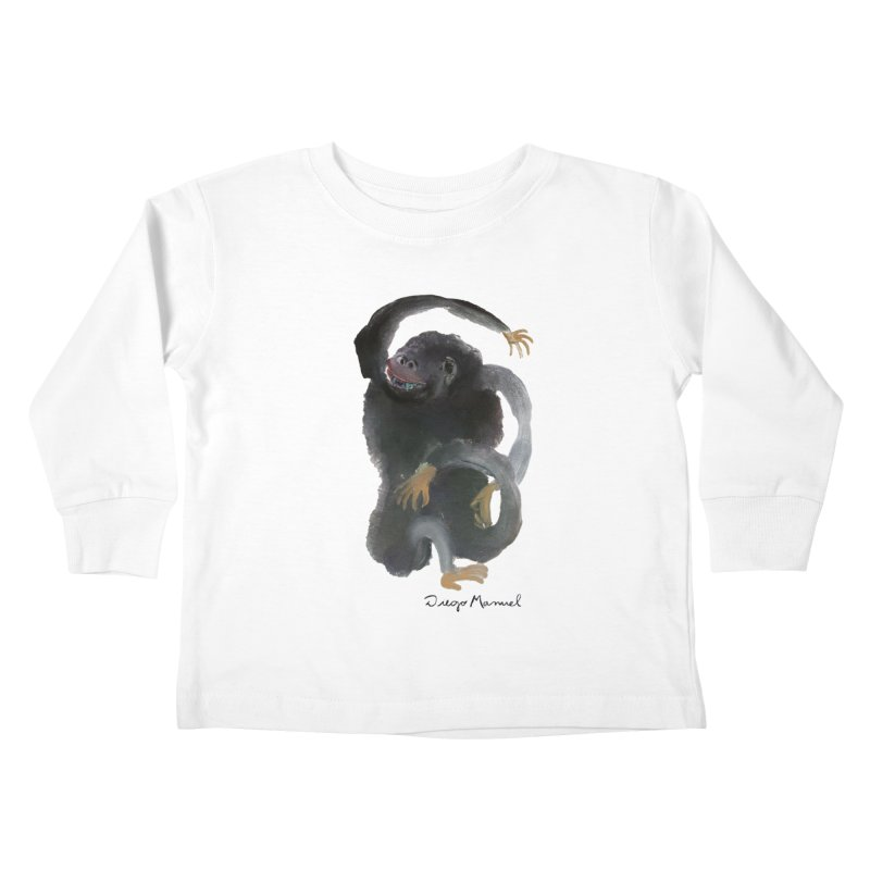 Gorilla 2 Kids Toddler Longsleeve T-Shirt by diegomanuel's Artist Shop