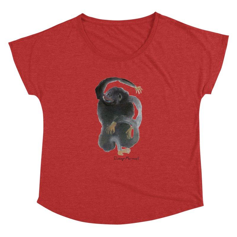Gorilla 2 Women's Dolman Scoop Neck by diegomanuel's Artist Shop