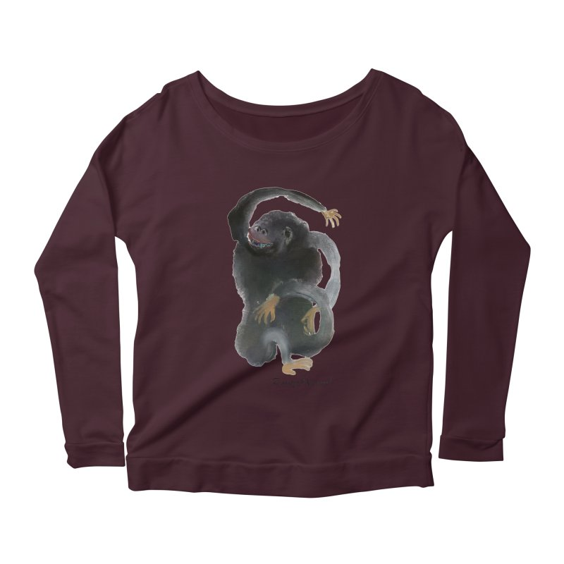 Gorilla 2 Women's Scoop Neck Longsleeve T-Shirt by diegomanuel's Artist Shop