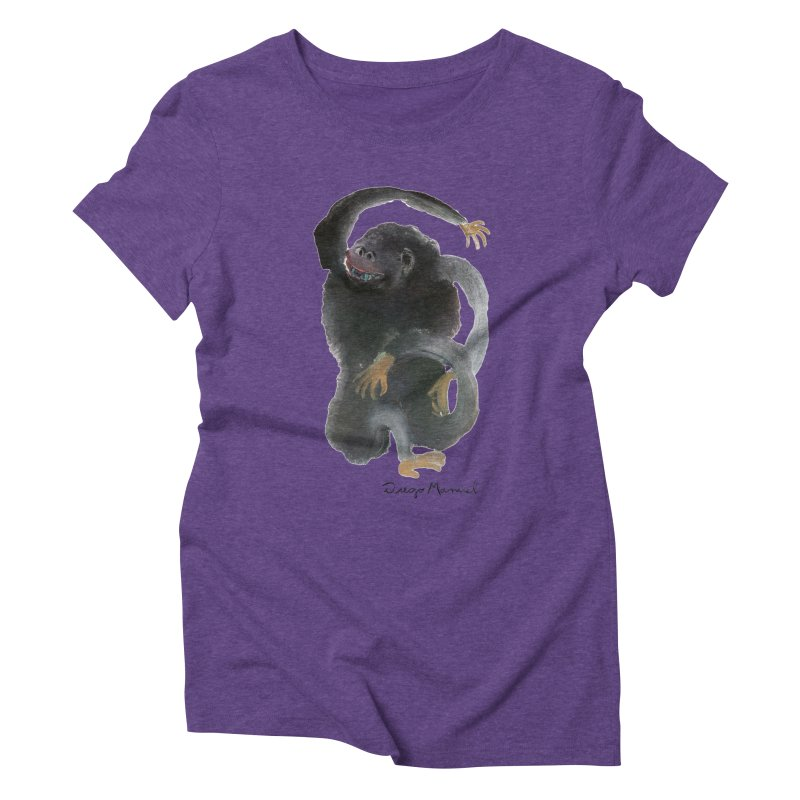 Gorilla 2 Women's Triblend T-Shirt by diegomanuel's Artist Shop