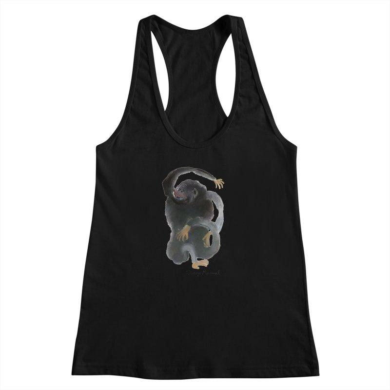 Gorilla 2 Women's Racerback Tank by diegomanuel's Artist Shop