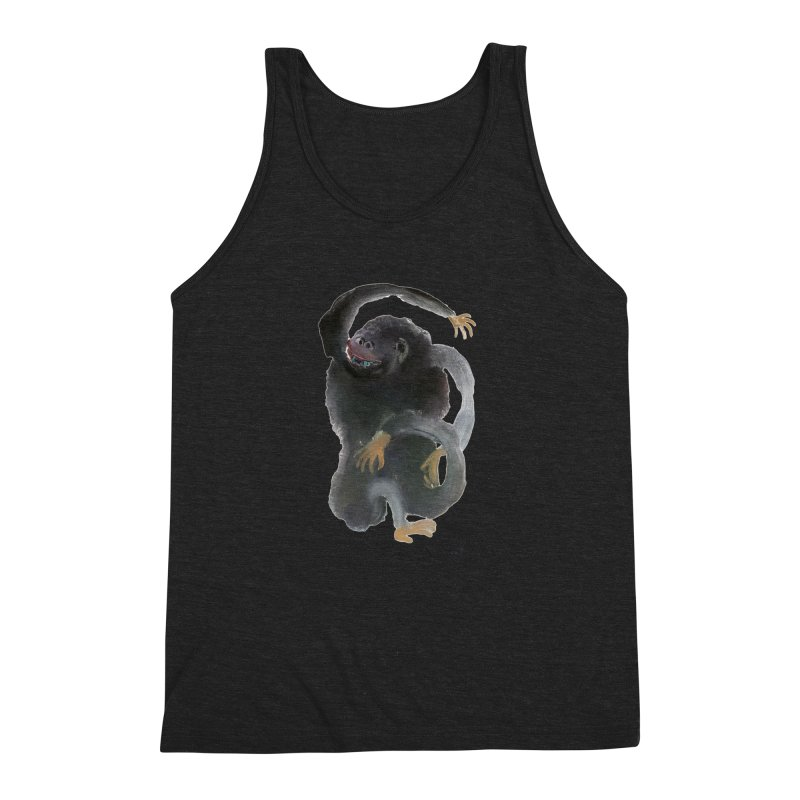 Gorilla 2 Men's Triblend Tank by diegomanuel's Artist Shop