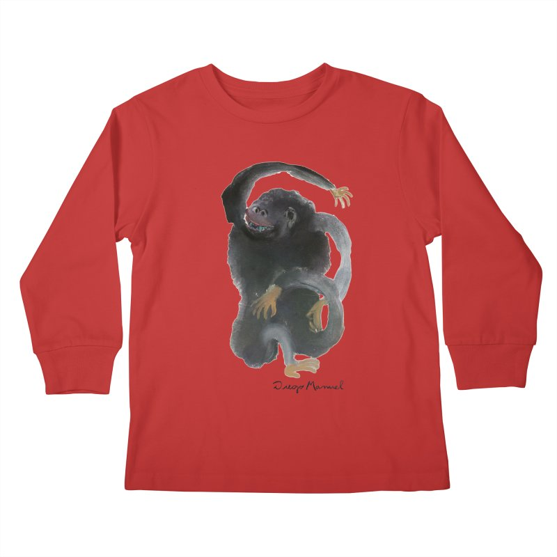 Gorilla 2 Kids Longsleeve T-Shirt by diegomanuel's Artist Shop
