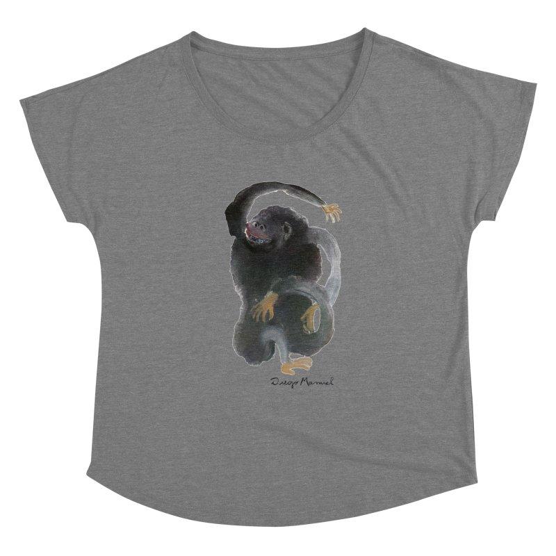 Gorilla 2 Women's Scoop Neck by Diego Manuel Rodriguez Artist Shop