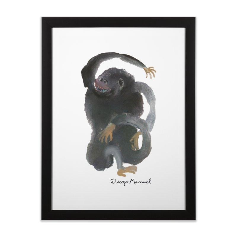 Gorilla 2 Home Framed Fine Art Print by diegomanuel's Artist Shop