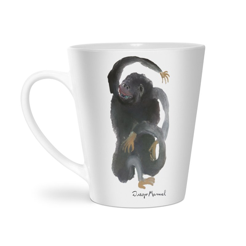 Gorilla 2 Accessories Latte Mug by diegomanuel's Artist Shop