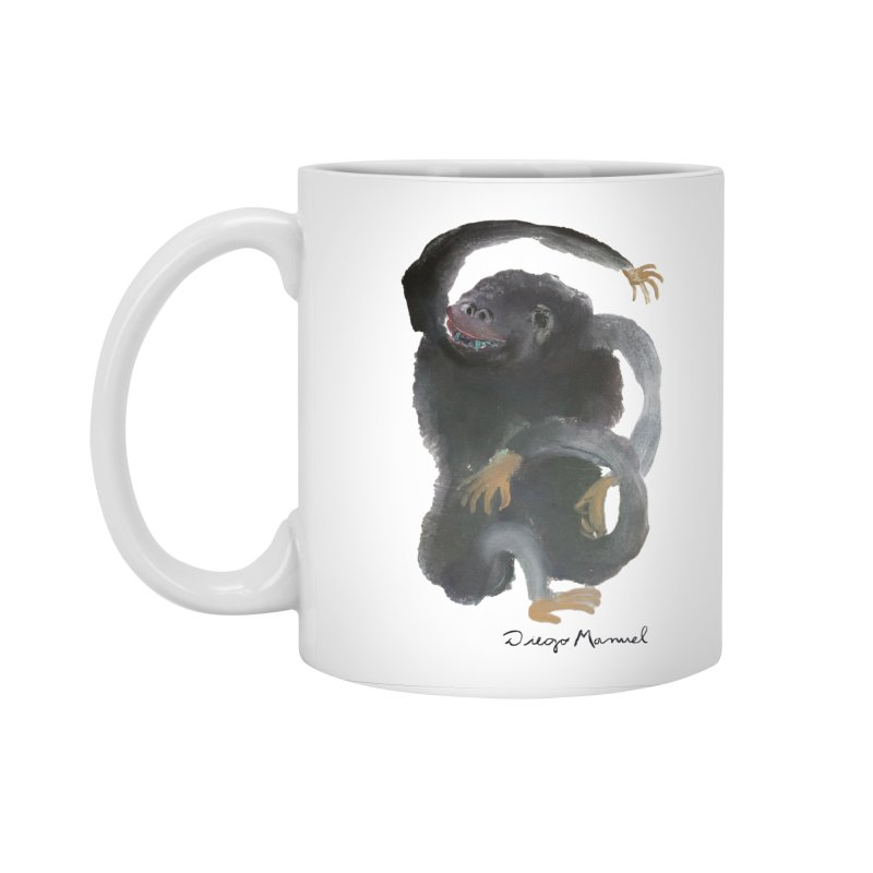 Gorilla 2 Accessories Standard Mug by diegomanuel's Artist Shop