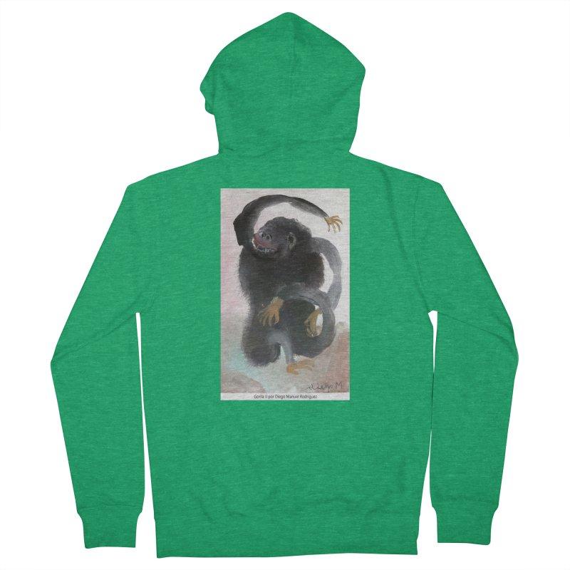 Gorilla 2 Women's Zip-Up Hoody by diegomanuel's Artist Shop