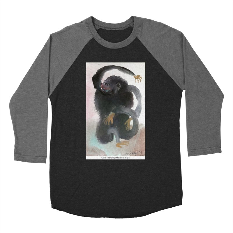 Gorilla 2 Women's Baseball Triblend T-Shirt by diegomanuel's Artist Shop
